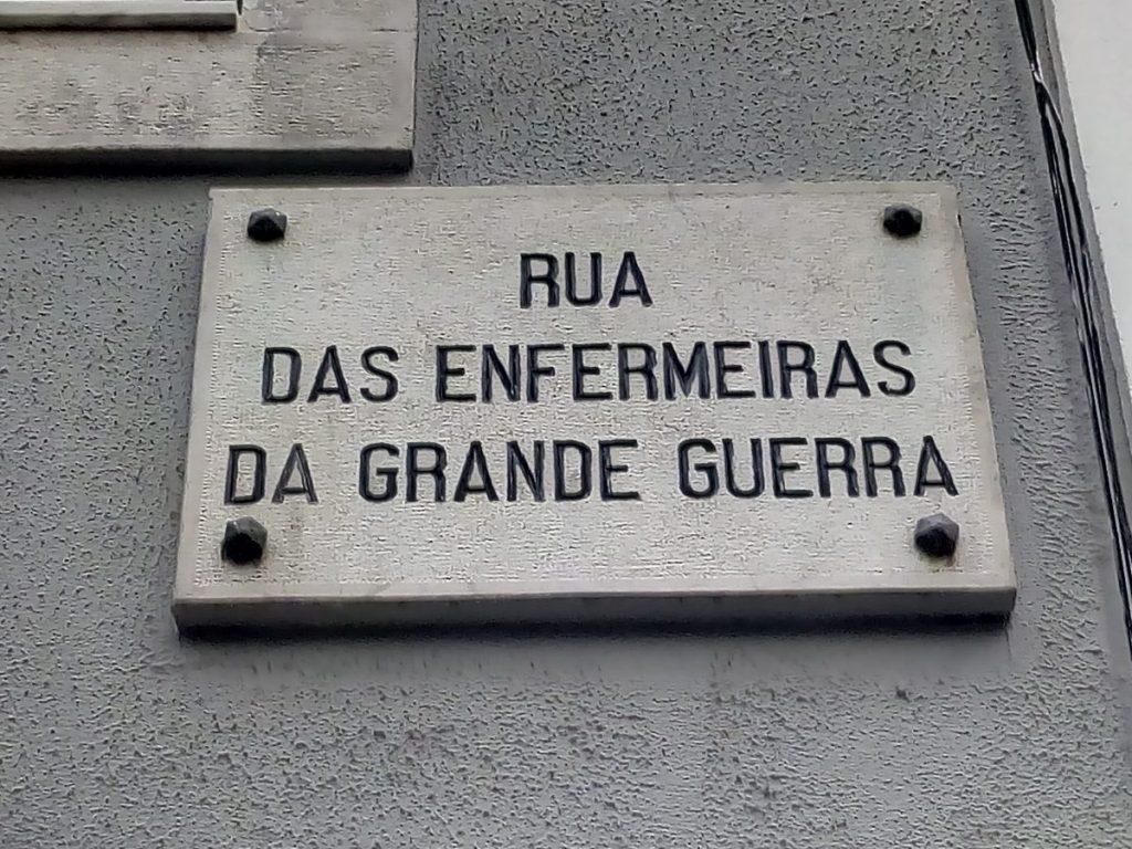 Rua das enfermeiras da Grande Guerra